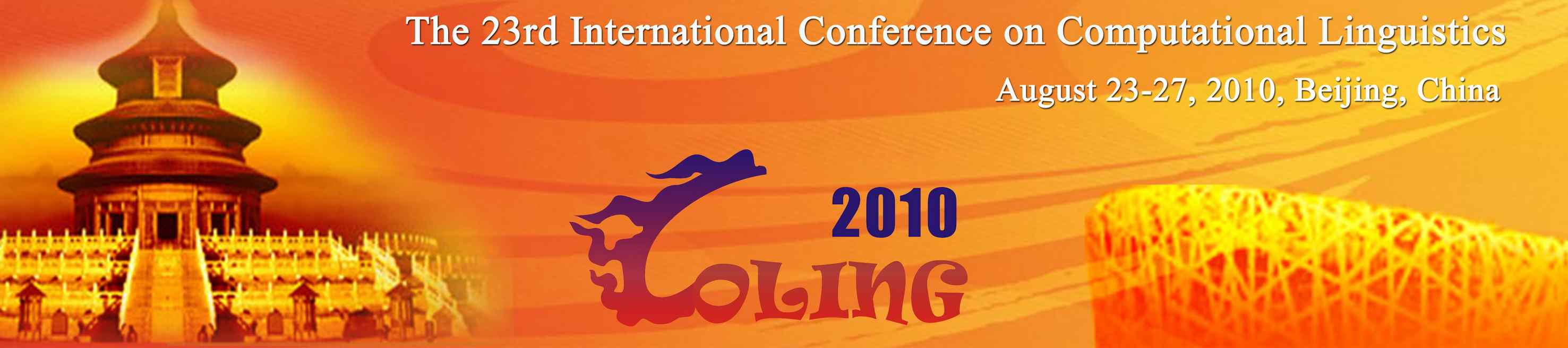 Coling 2010 Beijing China Ji Zhi Tang Jiang